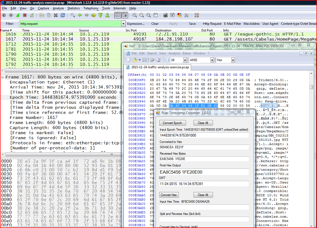 Wireshark , Pcap files, User-Agent strings and Malware