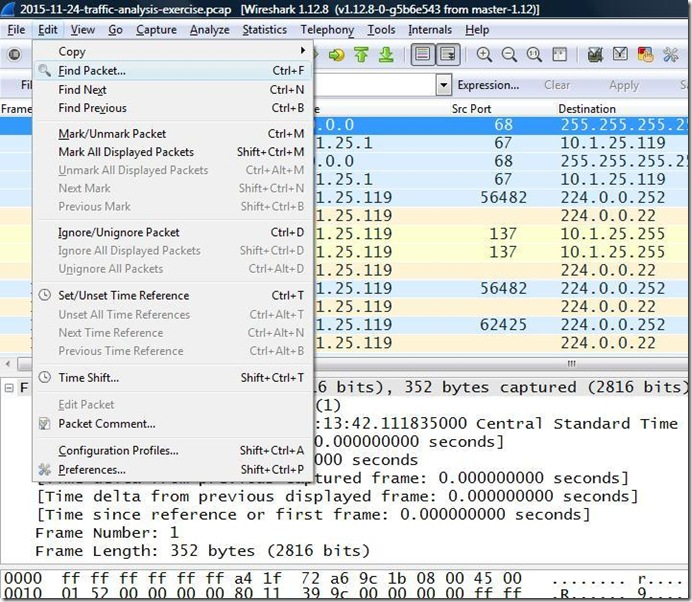 how to set up wireshark