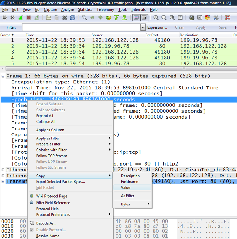 A little more on Wireshark and Pcap time stamps | PC's Xcetra Support